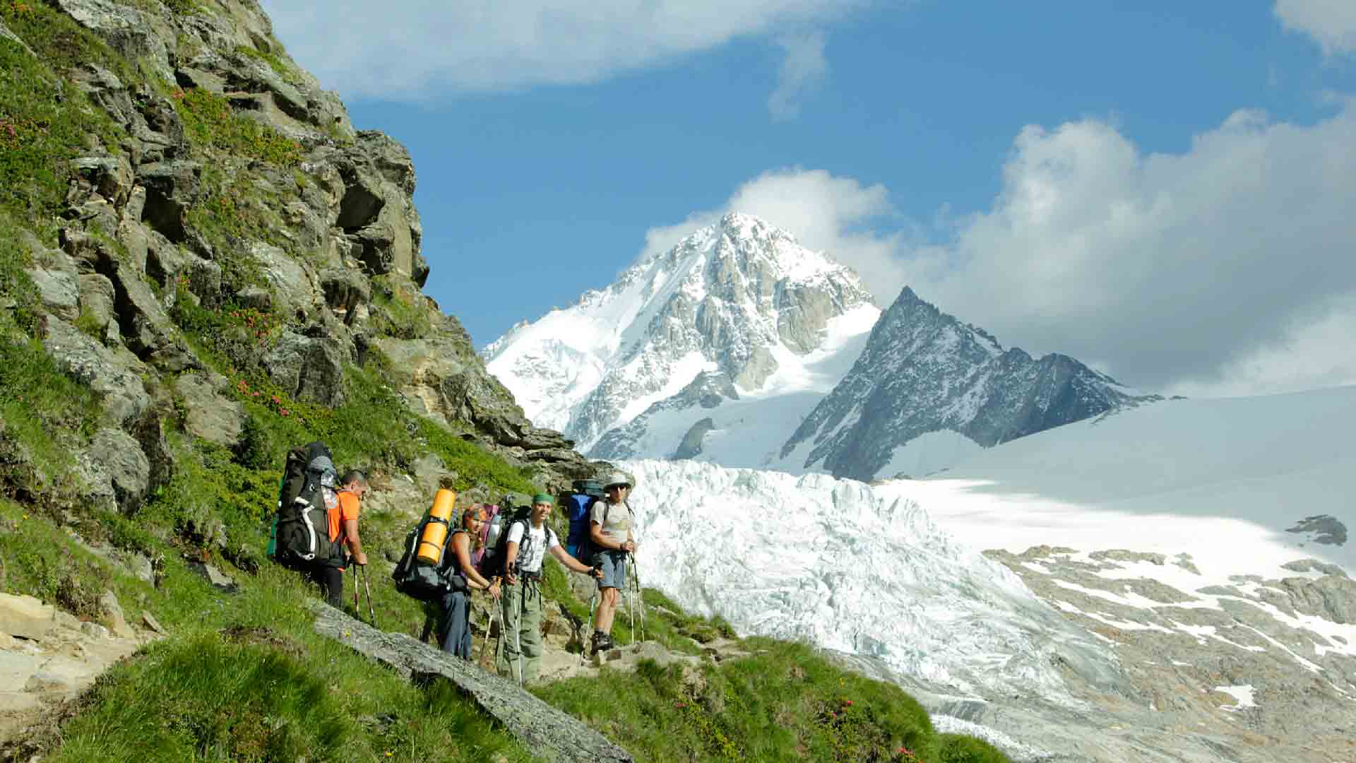 Фото с альпинистами в Шамони