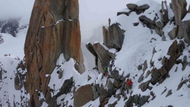 Фото с прохождения альпинистского маршрута