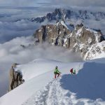 Спуск с Aiguille du Midi