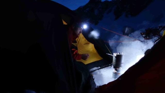 Вечерний чай на леднике в Шамони