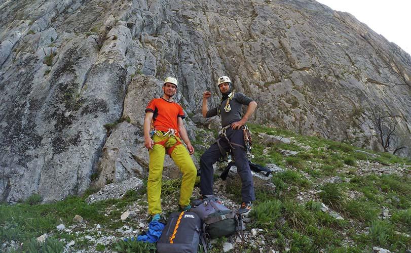 Одесские спортсмены в скалолазном районе Греции