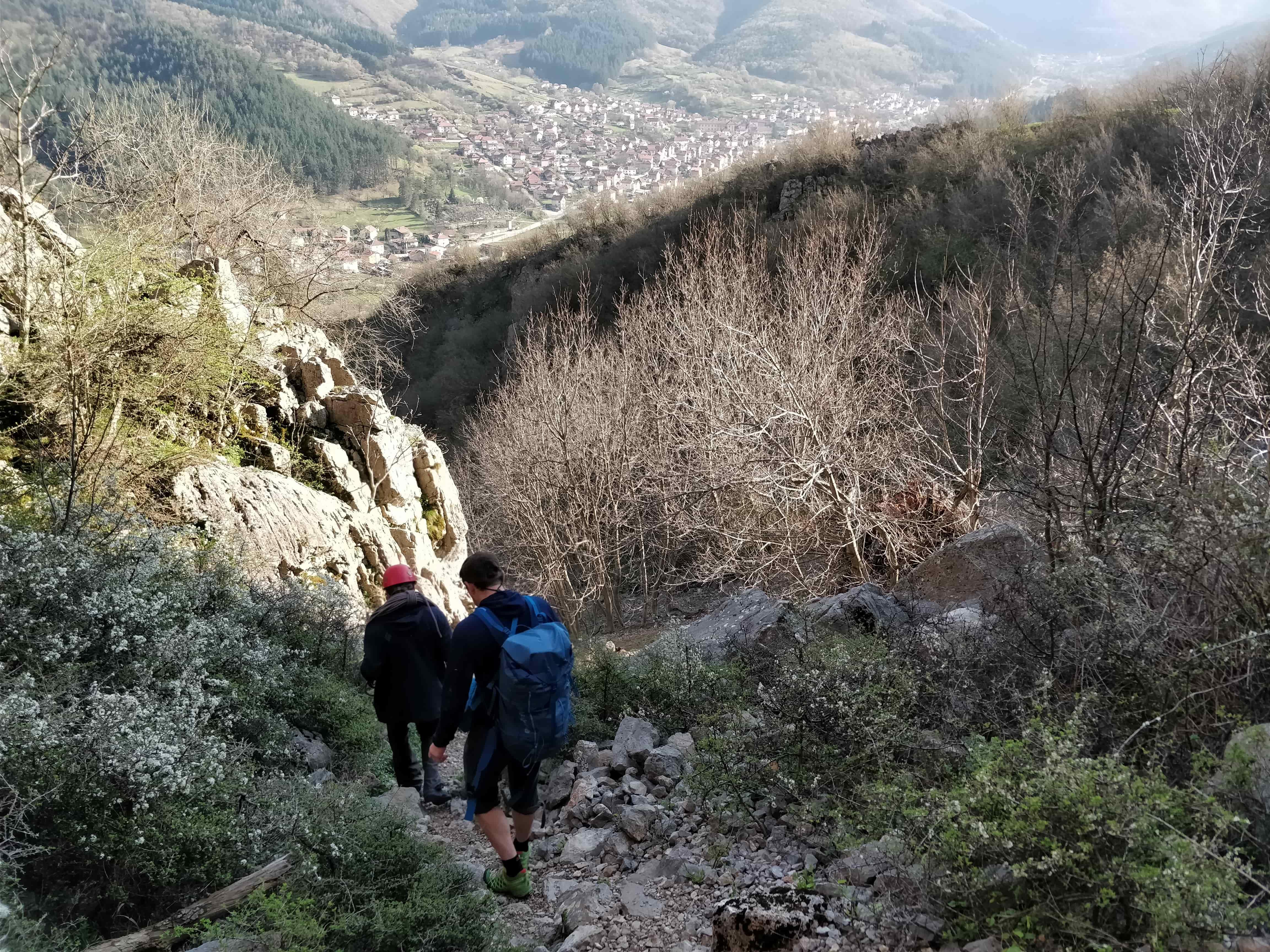 Спуск с маршрута в город Враца