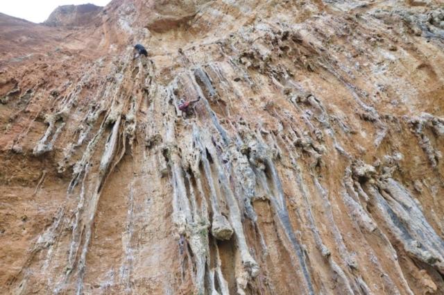 Одесский скалолаз на маршруте