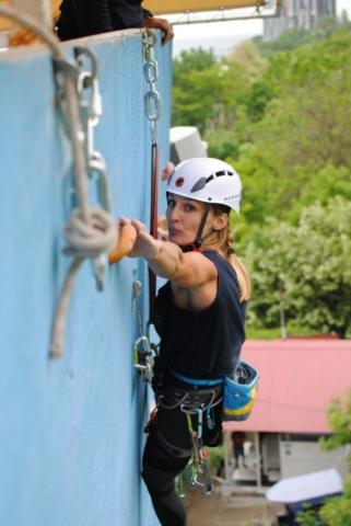 Крупко Ирина на финале кубка по технике альпинизма