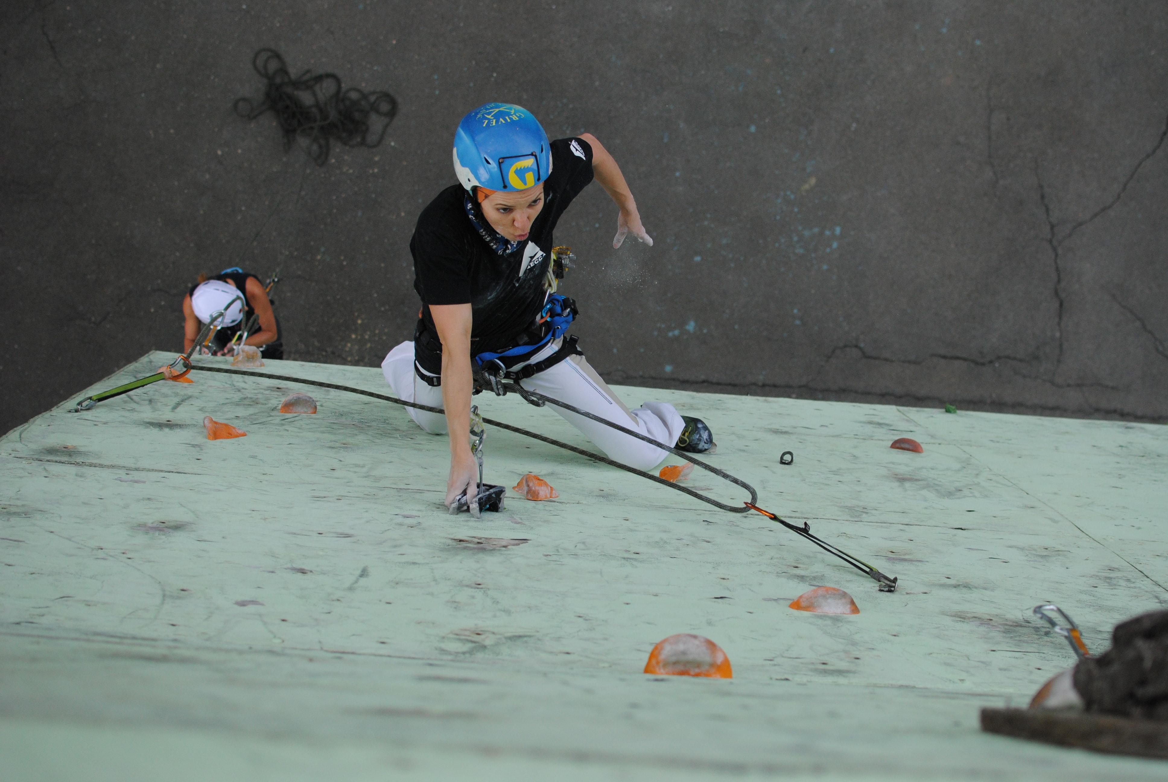 Богдана Зелинченко проходит сложный участок в финале соревнований