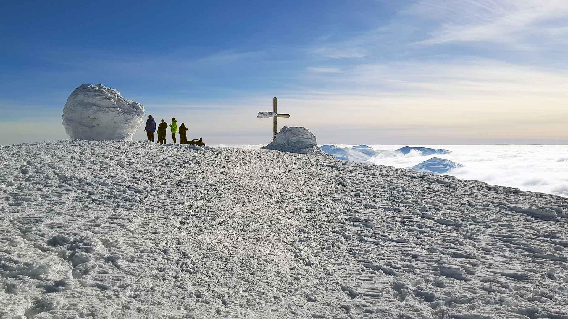 Вершина Говерлы в облаках
